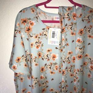 Floral Marly Dress LuLaRoe 3X BNWT Blue & Orange